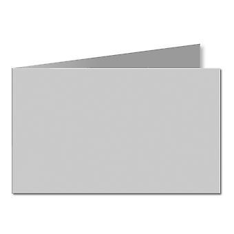 Grigio argento. 128mm x 356mm. 5x7 (Bordo corto). 235gsm Carta piegata vuota.