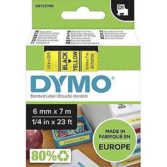 Etikettering tape DYMO D1 43618 Tape kleur: geel lettertype kleur: zwart 6 mm 7 m