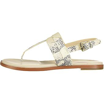 Cole Haan Womens Ainslee Leather Peep Toe Casual Slide Sandals