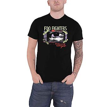 Foo Fighters T Shirt Medicine At Midnight Taped Band Logo Official Mens Black