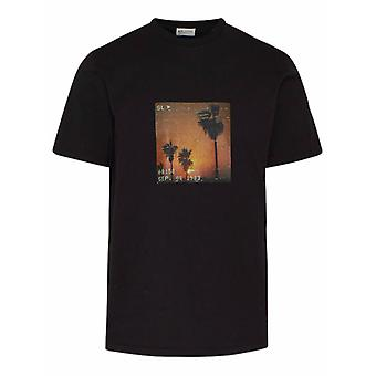 Saint Laurent 646354y36ac1068 Männer's schwarze Baumwolle T-shirt