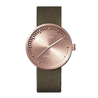 Leff Amsterdam LT71034 D38 Rose Gold Tone Cordura Wristwatch