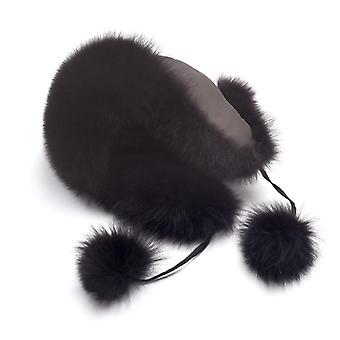 Neue natürliche Waschbär Fuchs Pelz russischen Ushanka Hüte