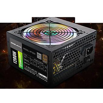 1200w Power Supply Active Pfc 12v Atx 8pin+2x6pin Sata  With Rgb Noise