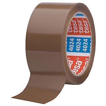 tesa 04024 Universal Carton Sealing Tape Low Noise - Hi Tack - 50mm x 66m Havana