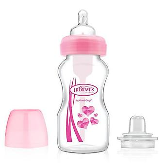 Dr. Brown's Transition Baby Bottle Pink 270 ml