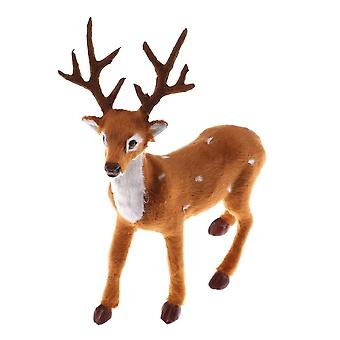 Christmas Deer, Elk Plush Reindeer, Decoration Fairy Garden, Miniatures Props