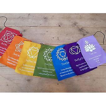 Chakra Flags - Spiritual Chakra Prayer Indoor/Outdoor Flags