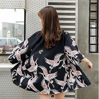 Japanilainen Kimono Yukata Nainen Kimono Neuletakki Muoti Pusero Naisten Streetwear