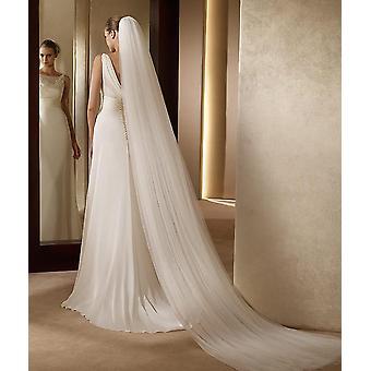 2 laag bruiloft sluier, eenvoudige bruid sluier met kam bruiloft sluier