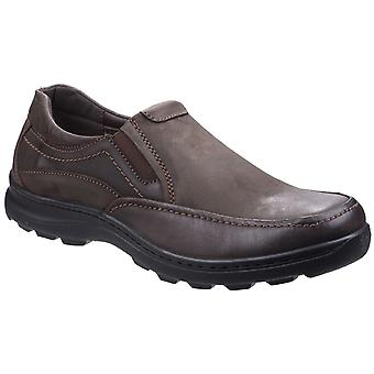 Fleet & Foster Goa Mens Leather Casual Shoes Brown UK Size