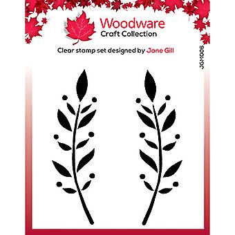 Woodware Clear Stamps - Singlar - Dorothy Leaf
