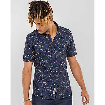 Duke Mens Medway D555 Floral Kurzarm Shirt
