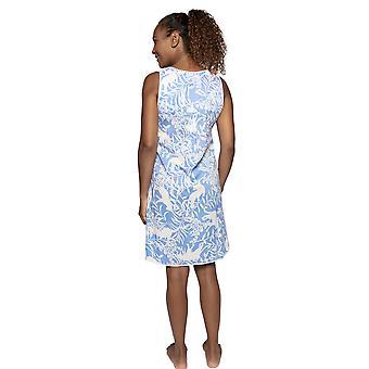 Cyberjammies Nora Rose Elizabeth 1524 Women's Blue Floral Cotton Nightdress