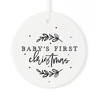 Babys erste Weihnachtsschmuck