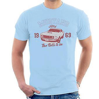 Ford Mustang 1969 El jefe está en la camiseta de los hombres