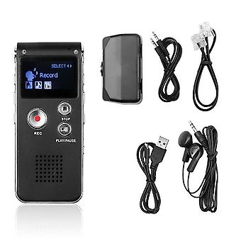 1 Set portable lcd screen 8gb digital voice recorder audio recorder mp3 player telephone dictaphone b7n5