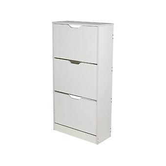 """Schuhmachermöbel """"Brighton"""" - 3 Türen - Weiß"""