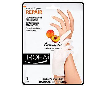 Iroha Peach Hand & Nail Mask Handskar Reparera Unisex