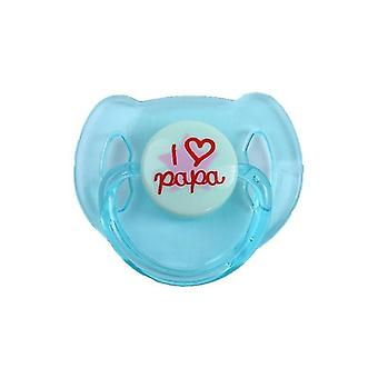 Dummy Pacifier+magnet I Love Papa Toy For Newborn Baby