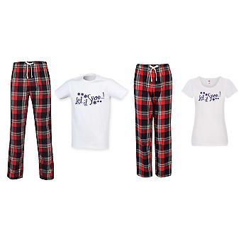 Anna sen lunta joulu Tartan Housu Pyjama Parit Set