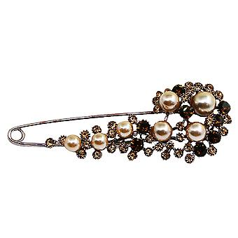 Retro Ladies Brooch Exaggerated Corsage Pearl Brooch Pin