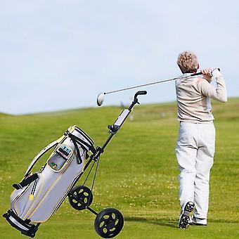 2 hjul push pull golfbil, / kopphållare vagn, svängbart stål, ljus, vikbar
