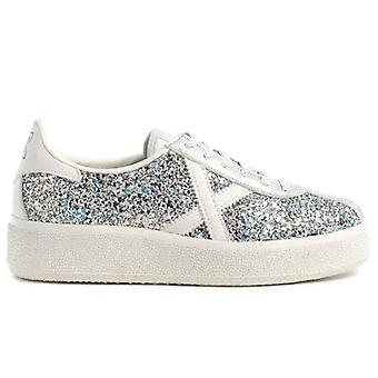 Dames München Barru Sky 61 Silver Glitter Sneaker