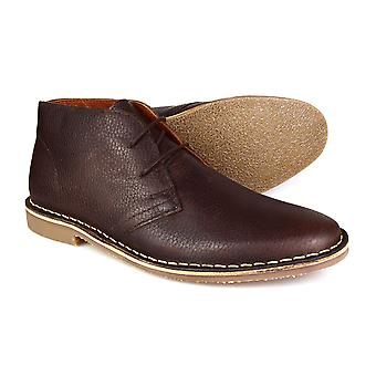 Red Tape Gobi Leather Chocolate Brown Men's Formal Desert Boots
