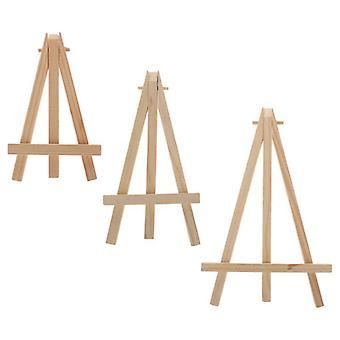 Natural Wood Mini Easel Frame, Tripod Display, Meeting Wedding Table Number,