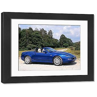 Maserati Spyder Cambiocorsa, 2001, Blue, Mediterranean. Large Framed Photo. Maserati Spyder.