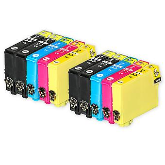 2 Sæt med 4 + ekstra sorte blækpatroner til erstatning for Epson 502XL+502XLBk-kompatibel/ikke-OEM fra Go-blæk (10 trykfarver)