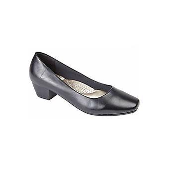 Boulevard Loretta Ladies Faux Leather Court Shoes Black