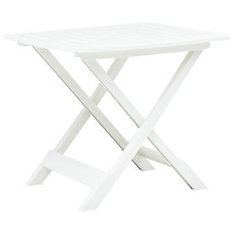vidaXL Stół ogrodowy składany biały 79 x 72 x 70 cm Plastik