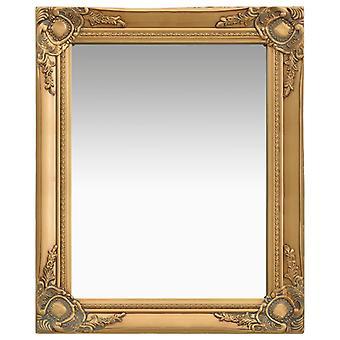vidaXL 墙面镜子在巴洛克风格 50 x 60 厘米黄金