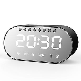 T1 اللاسلكية بلوتوث مكبر الصوت المزدوج السائقين المزدوج المنبه LED عرض FM راديو TF بطاقة Heav