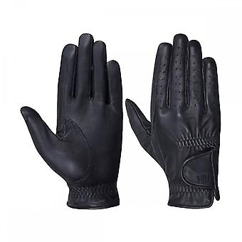 Battles Hy5 Childrens Leather Riding Gloves - Black