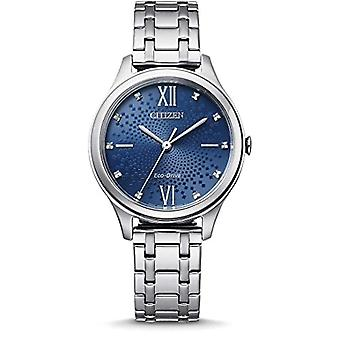 CITIZEN Analog Watch Eco-Drive Woman with Stainless Steel Strap EM0500-73L