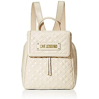Love Moschino Bag Quilted Nappa PU, Woman, Ivory, Normal