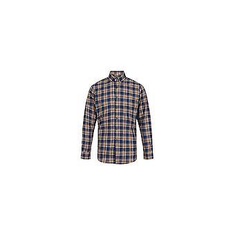 Jenson Samuel Blue & Yellow Check Regular Fit Cotton Shirt