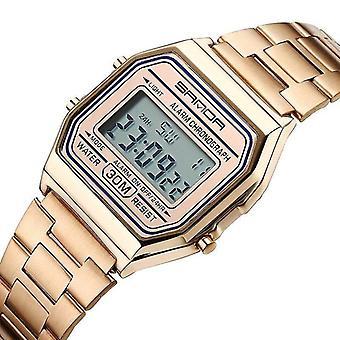 Casual SANDA 405 Digital Watch Elegant Multifuncțional Din Oțel Inoxidabil Curea Business Men