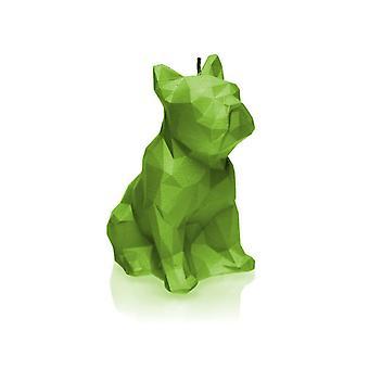 Lime Low Poly Bulldog kynttilä