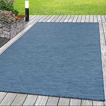 Tapis intérieur et extérieur KOA Balcon Terrasse Sisal Look Flat Fabric Monochrome