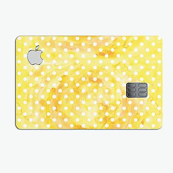 White Polka Dots Over Yellow Watercolor - Premium Protective Decal