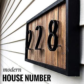 منزل DIY رقم الباب الرئيسية عنوان 3D أرقام حديثة لرقم البيت الرقمي الباب في الهواء الطلق علامة