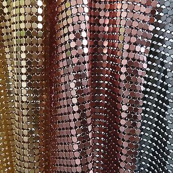 Hohtavat metalliset kankaat alumiinisella neliön paljetilla