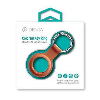 Apple AirTag Silicone Keychain Key ring Orange - Airtag Protective Case - Apple Airtag Case - Silicone Airtag Case