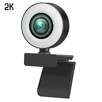 (2K) 2K/1080P Full HD USB Web Camera Webcam Video Laptop Desktop Conferencing