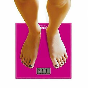 Tefal Premiss Scale Pink,  Weight Calculator,  Digital Bathroom Scale, Compact Electronic Scale
