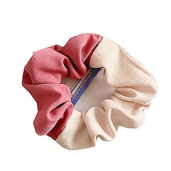 6Pcs Colorful Elastic Hair Scrunchies Rope Fashion Colorful Hair Ring Headwear For Women Hair